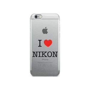 I Love Nikon iPhone Case