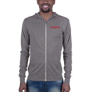 Canon Unisex zip hoodie