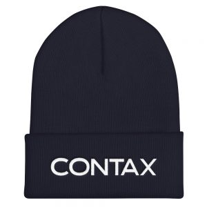 Contax Cuffed Embroidered Beanie