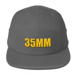 35MM 3D Embroidered Five Panel Cap