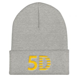 5D Embroidered Cuffed Beanie