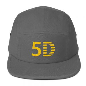 5D Embroidered Five Panel Cap