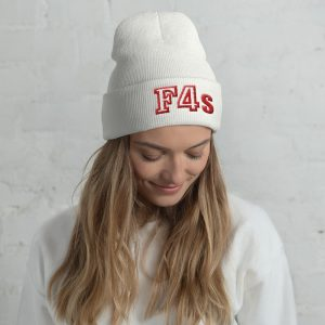 F4s 3D Embroidered Beanie